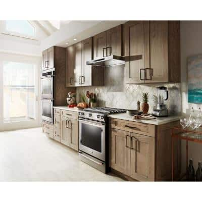 36 in. Low Profile Under Cabinet Ventilation Range Hood with Light in Stainless Steel