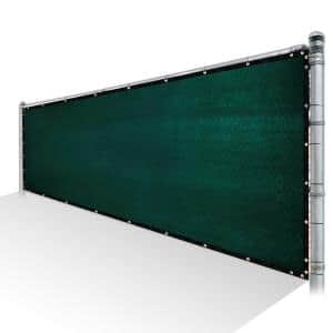 6 ft. x 50 ft. Green Privacy Fence Screen Mesh Fabric Cover Windscreen with Reinforced Grommets for Garden Fence