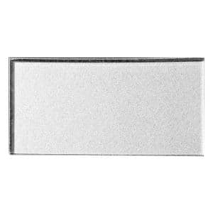 Forever Glossy Silver Metallic Look Subway 3 in. x 6 in. Glass Wall Tile (14 sq. ft./Case)