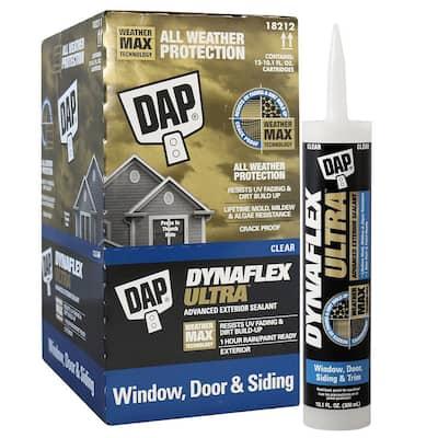 Dynaflex Ultra 10.1 oz. Clear Advanced Exterior Window, Door and Siding Sealant (12-Pack)