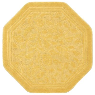 Wellington 6 ft. x 6 ft. Nylon Machine Washable Octagon Bath Mat in Gold
