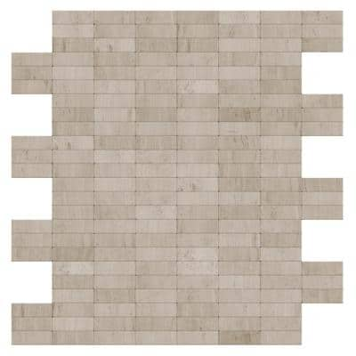 Hare Natural Mixed White/Gray 11.42 in. x 11.57 in. x 5mm Stone Self Adhesive Wall Mosaic Tile