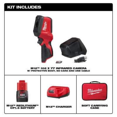 M12 12-Volt Lithium-Ion Cordless Thermal Imager Kit W/(1) 1.5Ah Battery, Charger, Tool Bag