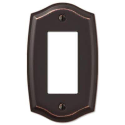 Vineyard 1 Gang Rocker Steel Wall Plate - Aged Bronze