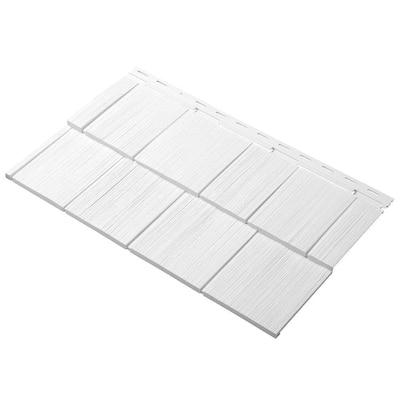 Take Home Sample Cedar Dimensions Shingle 24 in. Polypropylene Siding in White