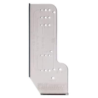 Align Right Cabinet Door Hardware Installation Template