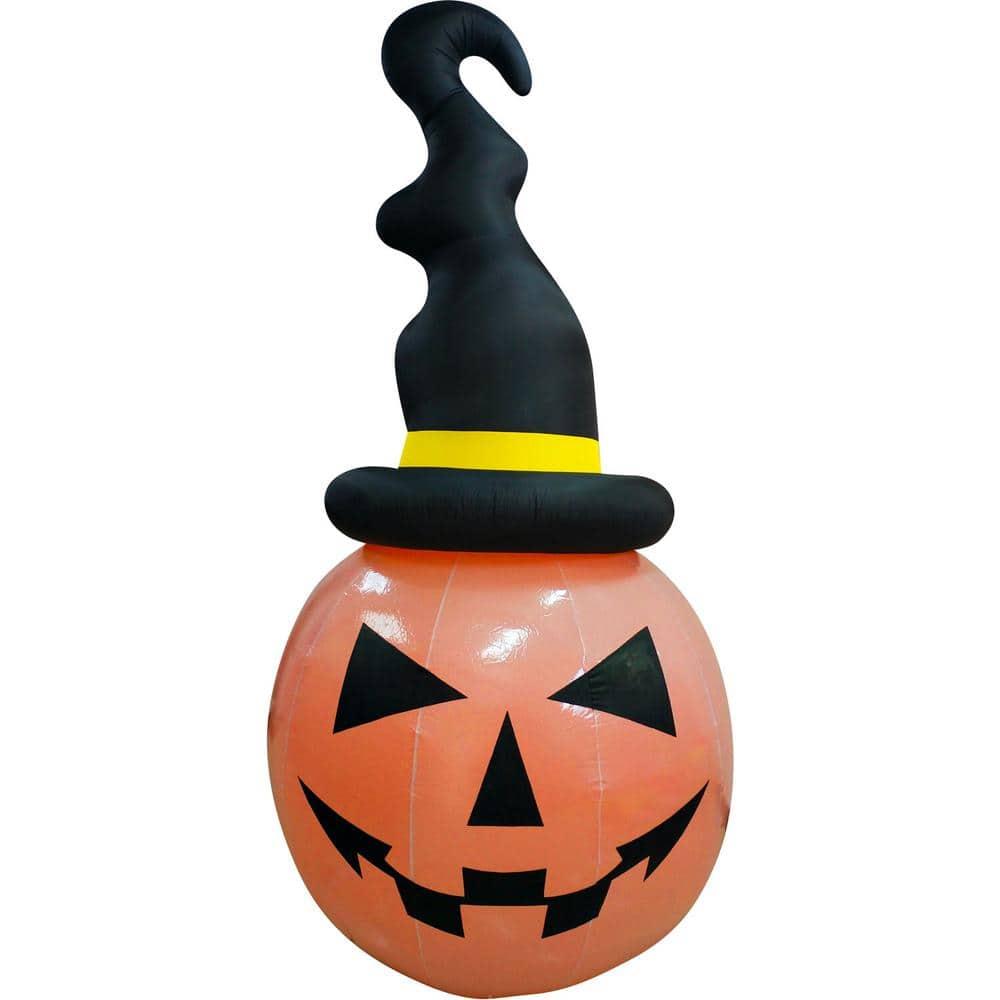Haunted Hill Farm 10 Ft Pumpkin Halloween Inflatable With Lights Hhfinpump010 2l The Home Depot