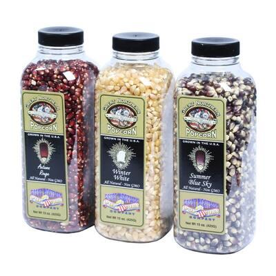15 oz. Premium Old Glory Autumn White, Winter White and Summer Blue Sky Popcorn Variety Packs (3-Pack)