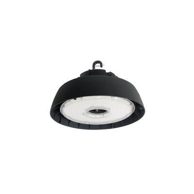 750-Watt Equivalent 240-Watt Black Integrated LED Round High Bay UFO Light Fixture Daylight