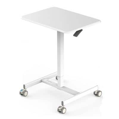 25.8 in. H Rectangular Laptop Desks with Adjustable Height-White