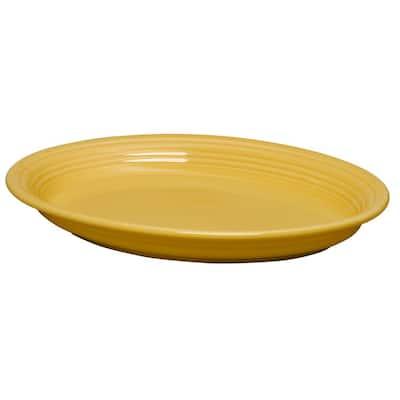 Sunflower Ceramic Oval Platter