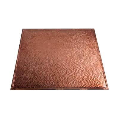 Chicago 2 ft. x 2 ft. Nail Up Metal Ceiling Tile in Vintage Bronze (Case of 5)