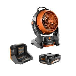 18V Hybrid Fan Kit with 18V Lithium-Ion 2.0 Ah Battery and Charger