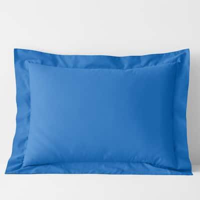 Company Cotton Percale Delft Blue King Sham
