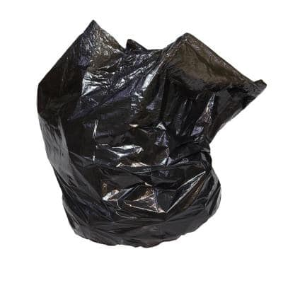 40 in. x 46 in. 45 Gal. 0.7 mil Black Industrial Strength Low-Density Commercial Trash Can Liners (100/Carton)