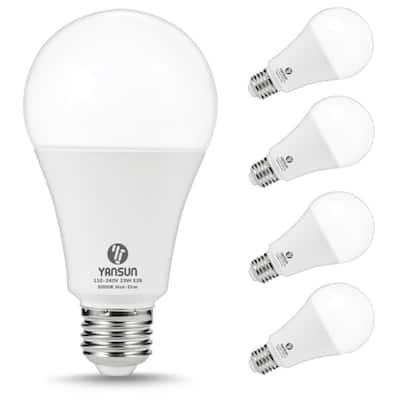 150-200-Watt Equivalent A21 23W Non-Dimmable LED Light Bulb E26 Base in Daylight White 5000K (4-Pack)