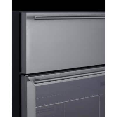 23.63 in. Commercial Refrigerator with Drawer in Stainless Steel