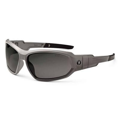 Skullerz Loki Matte Gray Polarized Safety Glasses / Goggles, Tinted Lens - ANSI Certified