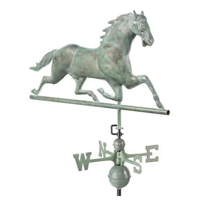 Horse Weathervane - Blue Verde Copper