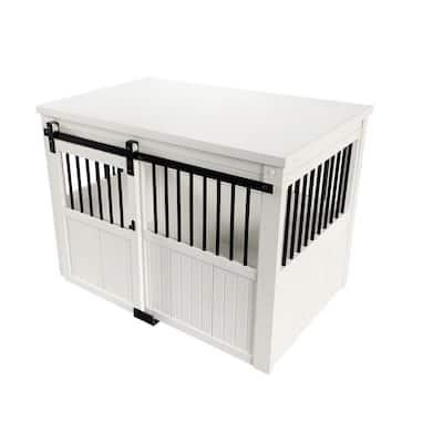 Homestead ECOFLEX Antique White Sliding Barn Door Dog Crate Extra Large