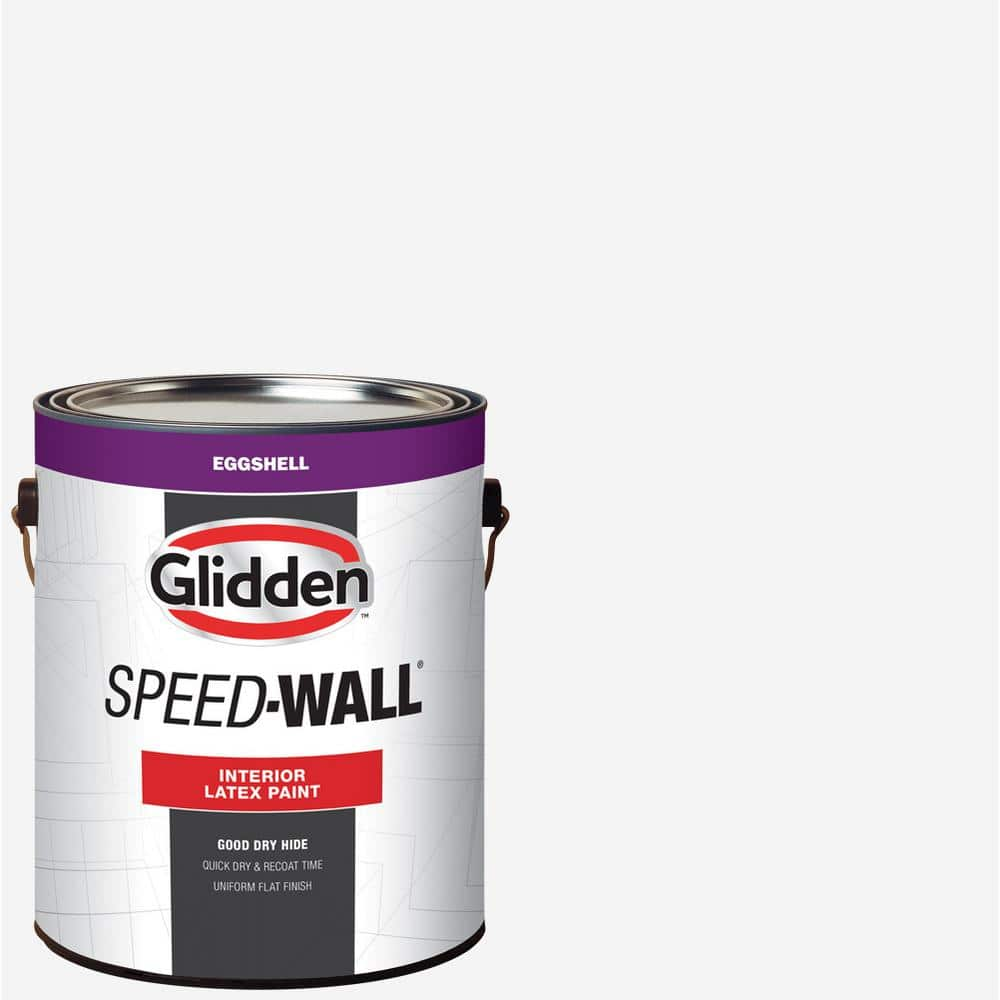 Glidden Professional 1 Gal Speed Wall White Eggshell Interior Latex Paint Gps 3000 01 The Home Depot
