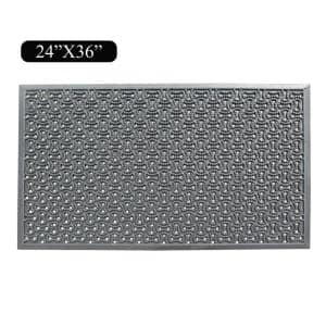 A1HC Multi Utility 24 In. x 36 In. Natural Rubber Scraper Commercial/Residential Door Mat