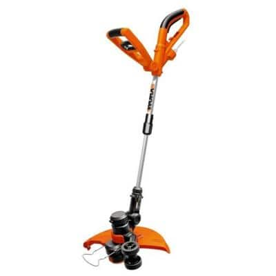 15 in. 6 Amp Corded Electric String Trimmer, Edger with Telescopic Straight Shaft and Pivoting Head