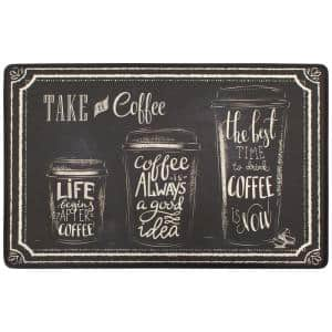 Take A Coffee 20 in. x 39 in. Anti-Fatigue Gelness Runner Kitchen Mat