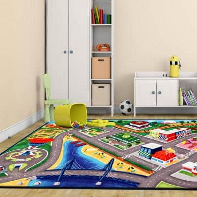 Paw Patrol Multi-Color 5 ft. x 7 ft. Juvenile Indoor Area Rug