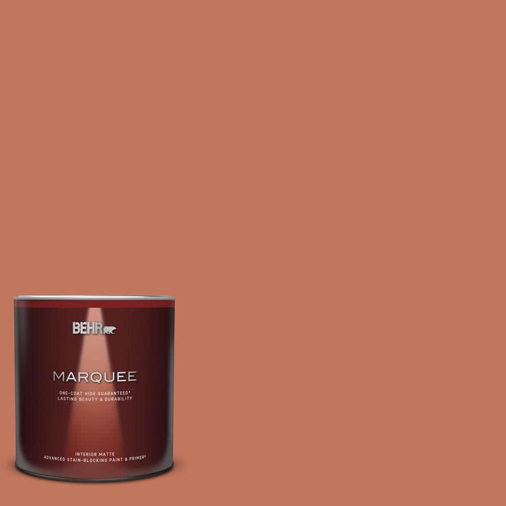 Behr Marquee 1 Qt Pmd 11 Warm Terra Cotta Matte Interior Paint Primer 145304 The Home Depot