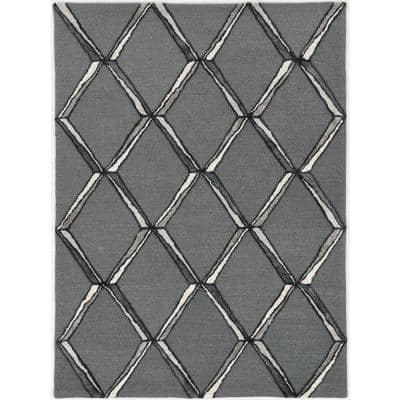 Upton Charcoal/Silver Mod Scape 9 ft. x 13 ft. Area Rug