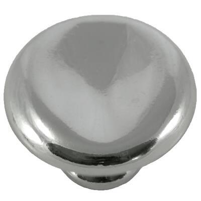 2 in. Polished Nickel Thumbprint Potato Knob