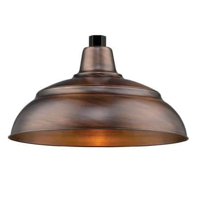 R Series 1-Light 15 in. Natural Copper Warehouse Shade