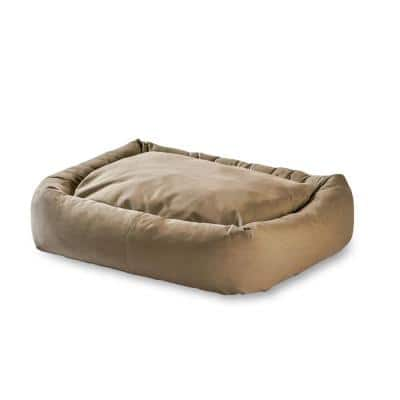 Max Large/XL Rectangle Indoor/Outdoor Greystone Bumper Dog Bed