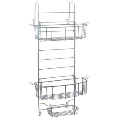 Over-the-Shower Door Caddy in Satin Chrome