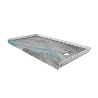 32 in. x 60 in. Single Threshold Shower Base with Right Hand Drain in Triton