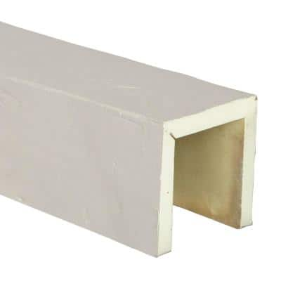 SAMPLE - 6 in. x 12 in. x 6 in. Urethane 3-Sided (U-Beam) Knotty Pine Faux Wood Ceiling Beam, Unfinished Finish