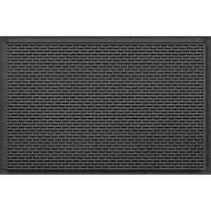 Stitch 23 in. x 35 in. PET Polyester Doormat Charcoal