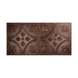 Traditional #5 2 ft. x 4 ft. Glue Up Vinyl Ceiling Tile in Smoked Pewter (40 sq. ft.)