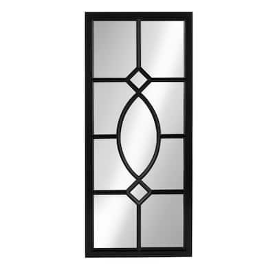 Medium Rectangle Black Contemporary Mirror (30 in. H x 13 in. W)