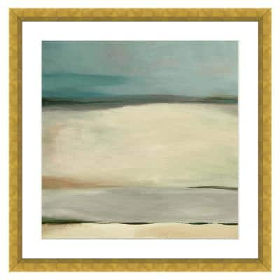 """Sand Dunes in Winter I"" Framed Archival Paper Wall Art (20 in. x 20 in. in full size)"