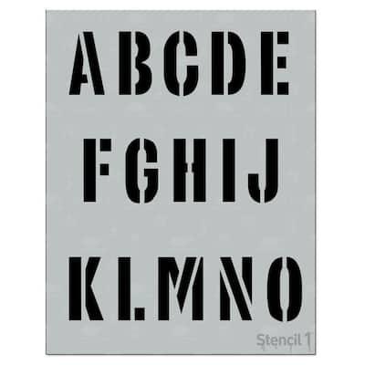 1 in. Industrial Font Stencil