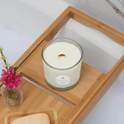 Seeking Balance Illuminate Juniper Rosewood Floral Scented Beeswax Blend Jar Candle with Wood Wick