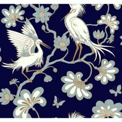 Egrets Paper Strippable Wallpaper (Covers 60.75 sq. ft.)