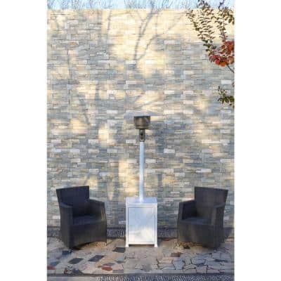48,000 BTU White Square Modern Gas Patio Heater