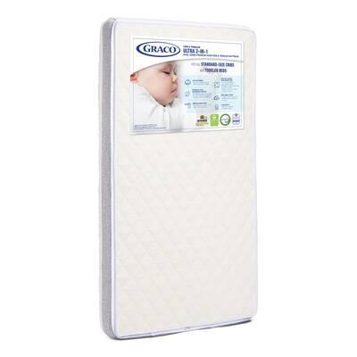 Ultra-Premium White 2-in-1 Crib Mattress