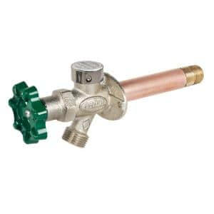 1/2 in. x 8 in. Brass MPT x SWT Heavy Duty Frost Free Anti-Siphon Outdoor Faucet Hydrant