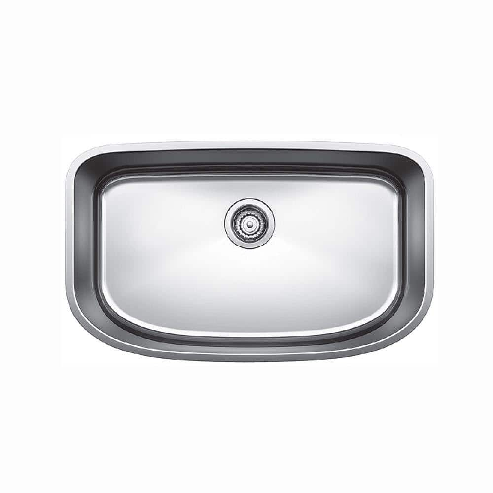 Blanco Undermount Stainless Steel 30 In X 18 Single Bowl Kitchen Sink Satin Polished 441586 The Home Depot