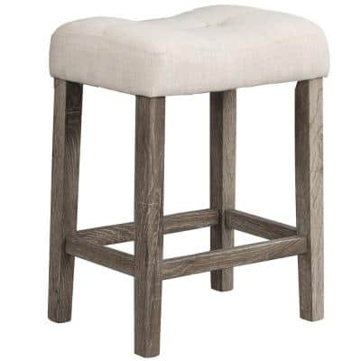 Svend 24 in. H Antique Natural Oak Counter Height Stools (Set of 2)