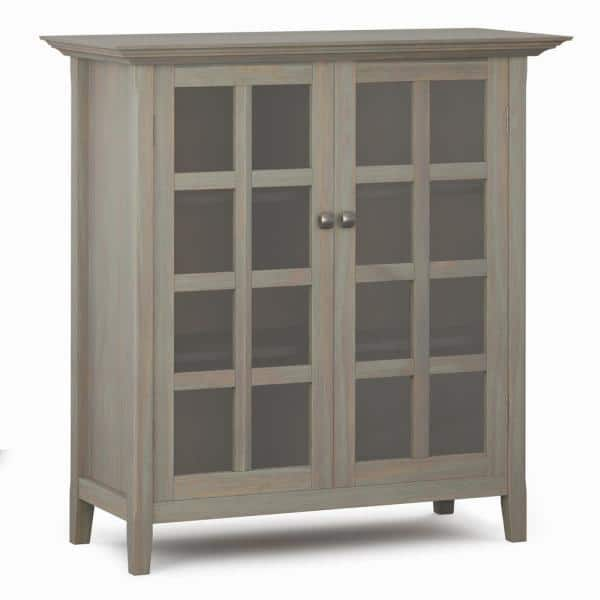 Reviews For Brooklyn Max Brunswick Distressed 39 In Grey Wide Rustic Medium Storage Cabinet With Solid Wood Bmaca15 Gr The Home Depot